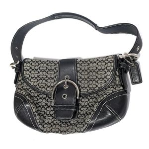 Coach Signature Soho Hobo Tan Jacquard K04W-6818